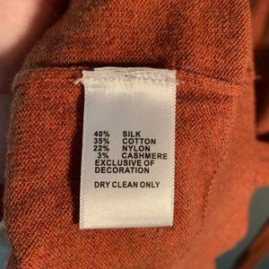 Greg Norman Collection Sweaters - Greg Norman V-Neck Sweater Burnt Orange